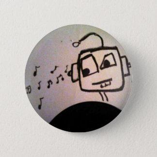 De Tekening van de robot Ronde Button 5,7 Cm