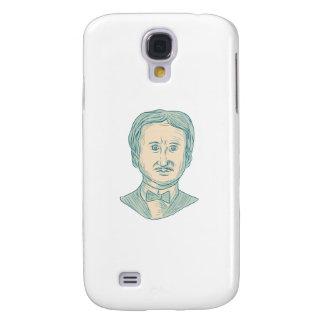 De Tekening van de Schrijver van Edgar Allan Poe Galaxy S4 Hoesje