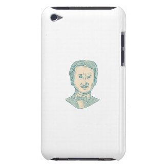De Tekening van de Schrijver van Edgar Allan Poe iPod Touch Hoesje