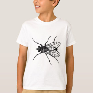 De tekening van de vlieg - insect, ongedierte, t shirt