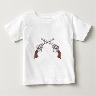 De Tekening van het Pistool van het pistool op Baby T Shirts