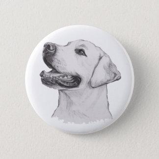 De Tekening van het Portret van de Hond van de Ronde Button 5,7 Cm