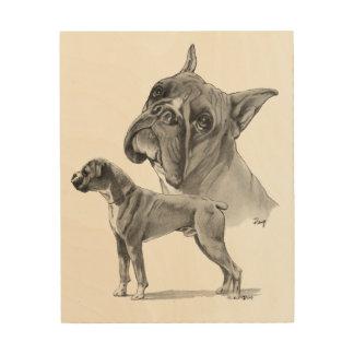 De Tekening van het Potlood van de Honden van de Houten Canvas Print