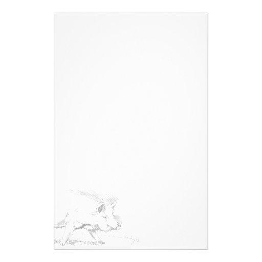 De tekening van het potlood van het varken briefpapier ontwerp