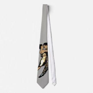 de tekening van het stropdaspaar eigen stropdas