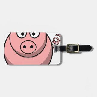 De Tekening van het varken Kofferlabel