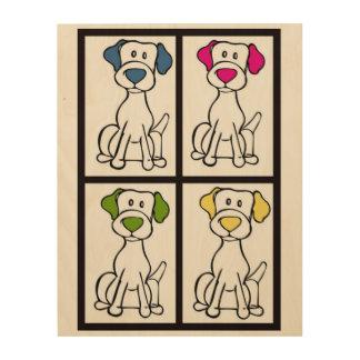 De Tekening van Labrador Houten Canvas