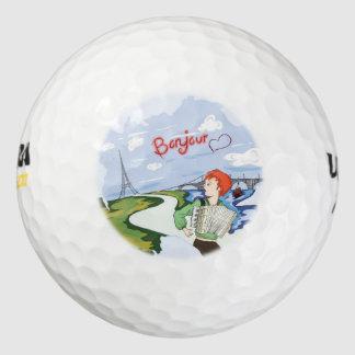 De Tekening van Parijs van Bonjour Golfballen