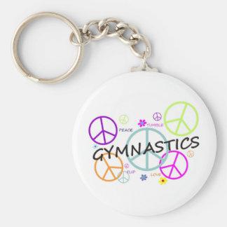 De Tekens van de Vrede van de gymnastiek Sleutelhanger