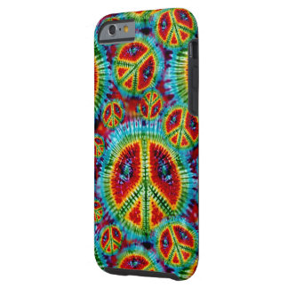 De Tekens van de Vrede van de Kleurstof van het Tough iPhone 6 Hoesje
