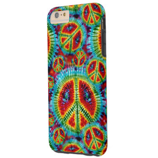 De Tekens van de Vrede van de Kleurstof van het Tough iPhone 6 Plus Hoesje