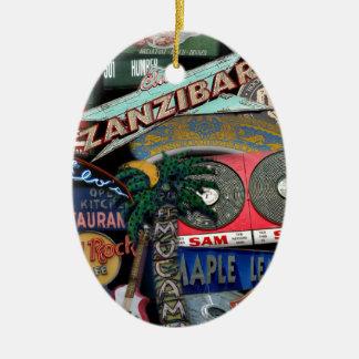 De Tekens van Toronto Keramisch Ovaal Ornament