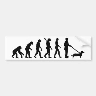 De Tekkel van de evolutie Bumpersticker