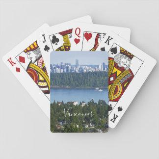 De tekst de speelkaarten van Vancouver, Canada van