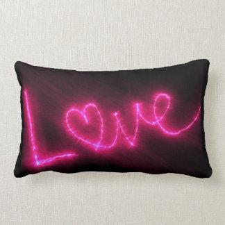 De Tekst van de liefde in Heet Roze werpt Lumbar Kussen