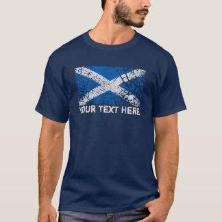 De Tekst van Schotland + De Schotse Vlag van T Shirt