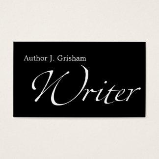 De Tekst van Swash van de schrijver Visitekaartjes
