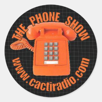 De telefoon toont cactiradio.com om Sticker