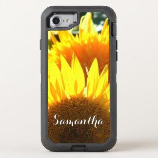De telefoon van de bloeiOtterbox van de zonnebloem OtterBox Defender iPhone 8/7 Hoesje