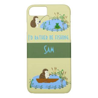 De telefoonhoesje van de Egel van de visserij iPhone 7 Hoesje