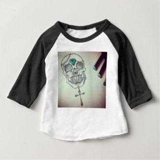 De tellerslogo van de schedel baby t shirts