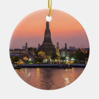 De Tempel Bangkok Thailand van Arun van Wat bij Rond Keramisch Ornament