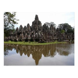 De Tempel van Bayon in Angkok Wat in Kambodja Briefkaart