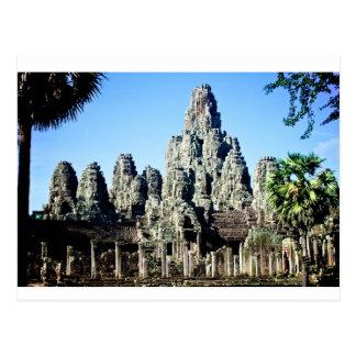 De Tempel van Bayon in Angkor, Kambodja Briefkaart