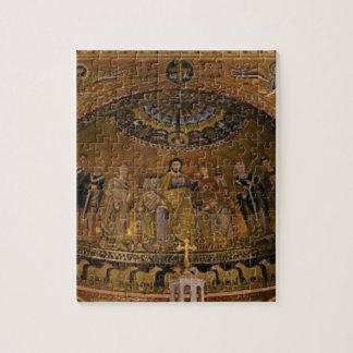 De tempel van de de koepelboog van de kerk legpuzzel