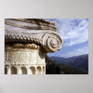 De Tempel van Delphi Poster