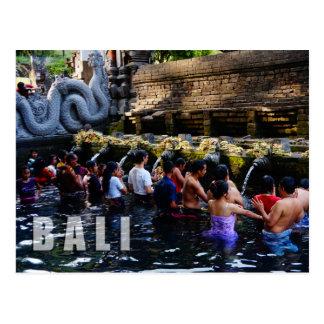 De Tempel van Empul van Tirta in Bali, Indonesië Briefkaart