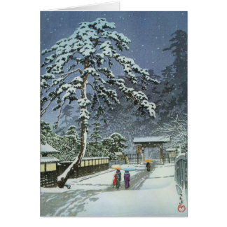 De Tempel van Honmonji in Sneeuw - Kawase Hasui Briefkaarten 0