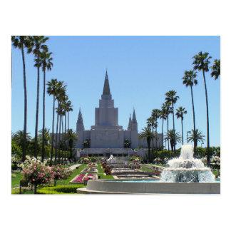 De tempel van Oakland Californië LDS Briefkaart