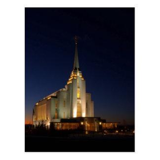 De tempel van Rexburg LDS Briefkaart