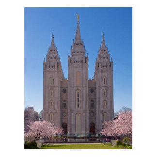 De Tempel van Salt Lake City in de Lente Briefkaart