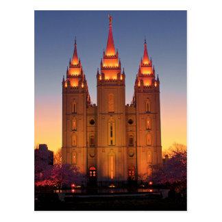 De Tempel van Salt Lake van het briefkaart bij