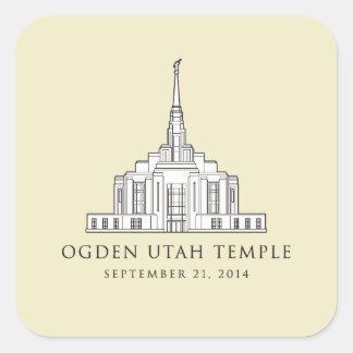 De Tempel van Utah van Ogden. Primaire sticker