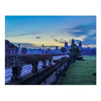 De Tempel van Wat van Angkor - het Briefkaart van