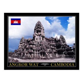 De Tempel van Wat van Angkor, Kambodja Briefkaart