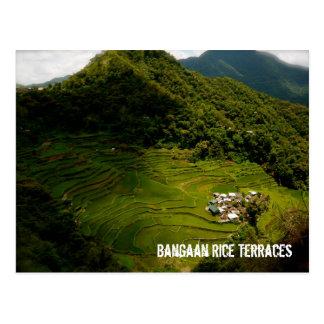De Terrassen van de Rijst van Bangaan Briefkaart