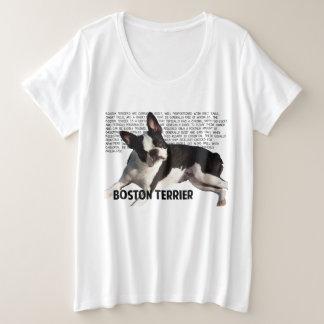 De terriëroverhemd van Boston Grote Maat T-shirt