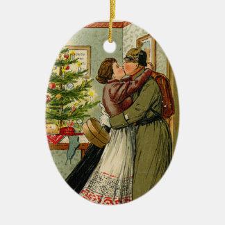 De Terugkeer van de militair voor Weihnachten Keramisch Ovaal Ornament