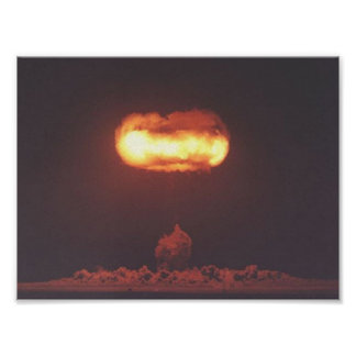 De testfoto van de atoombom poster