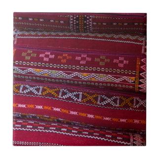De textiel Patronen van het Hoofdkussen Keramisch Tegeltje