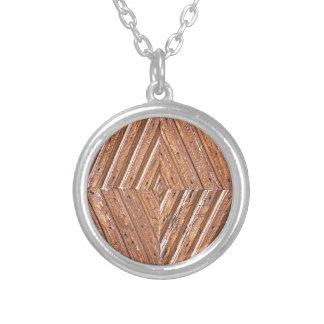 De textuur van de diamant zilver vergulden ketting