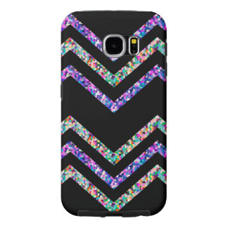 De Textuur van de Fonkeling van de Zigzag van het Samsung Galaxy S6 Hoesje