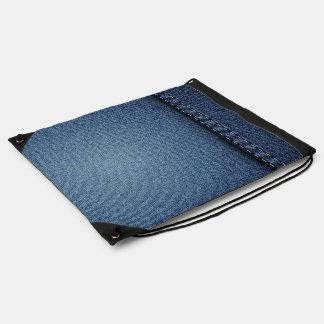 De Textuur van de Jeans van het denim Backpacks
