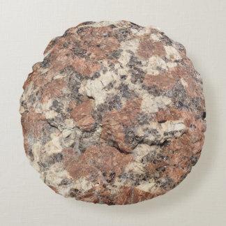 De Textuur van de Rots van het graniet --- Roze Rond Kussen