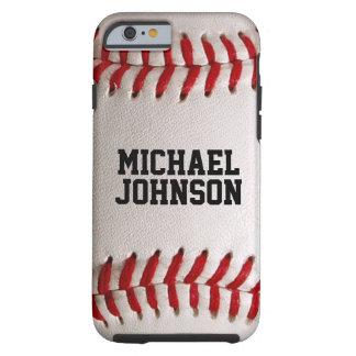 De Textuur van de Sporten van het honkbal met Tough iPhone 6 Hoesje