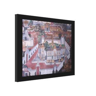 De Thaise Muurschildering Verpakte Druk van het Gallerij Wrap Canvas
